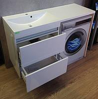 Тумба под стиральную машину Ямайка с раковиной от Fancy Marble. Экономим полезную площадь вместе!