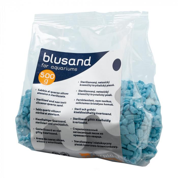 Кварцевый песок для аквариумов Ferplast BLUSAND Голубой