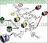 Сайлентблок Skoda Octavia 2004-; Skoda Superb 2008- (комплект14шт) ЗАДНЯЯ ПОДВЕСКА