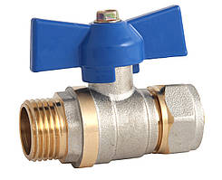 Кран шаровый под обжим для металлопластиковой трубы ф.16х1/2 Н Eco