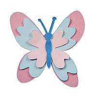 Ножи для вырубки Sizzix Thinlits Die Set 4PK - Meadow Butterfly, 660809