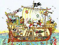 Набор для вышивания Cut Thru' Pirate Ship Пиратский корабль, XCT7