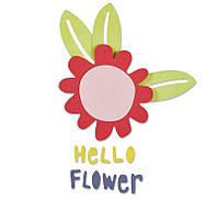 Ножи для вырубки Sizzix Thinlits Die Set 5PK - Hello Flower, 660805