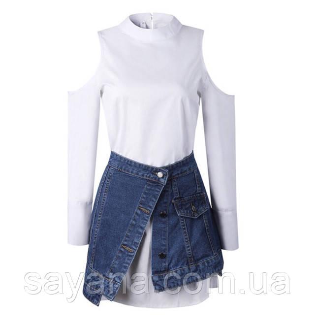 женский молодежный комплект: платье и юбка