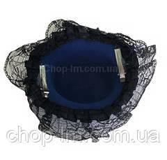Шляпка с рюшами синяя, фото 3
