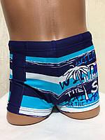 Плавки-шорты детские, подростковые плавательные. Голубые.TERES  BH 2115 мятные, фото 1