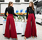 """Стильные женские нарядные брюки 0252 """"Креп Клёш Запах"""" в расцветках, фото 2"""