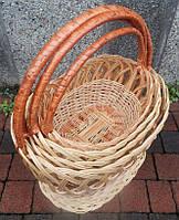 Набор плетеных корзин из лозы  4 штуки