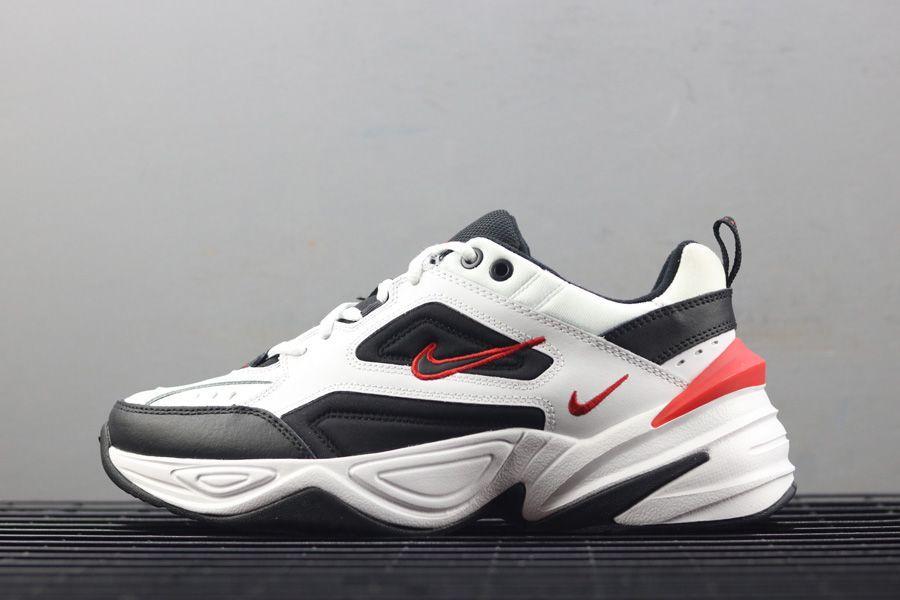 Кроссовки мужские Nike Air Monarch M2K Tekno White Black Red Белые