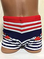 Плавки-шорты детские, подростковые плавательные. Голубые.TERES  BH 4202 красный, фото 1