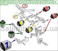 Сайлентблок Seat Leon/Leon 4 2006-; Seat Toledo 2005-; (комплект14шт) ЗАДНЯЯ ПОДВЕСКА