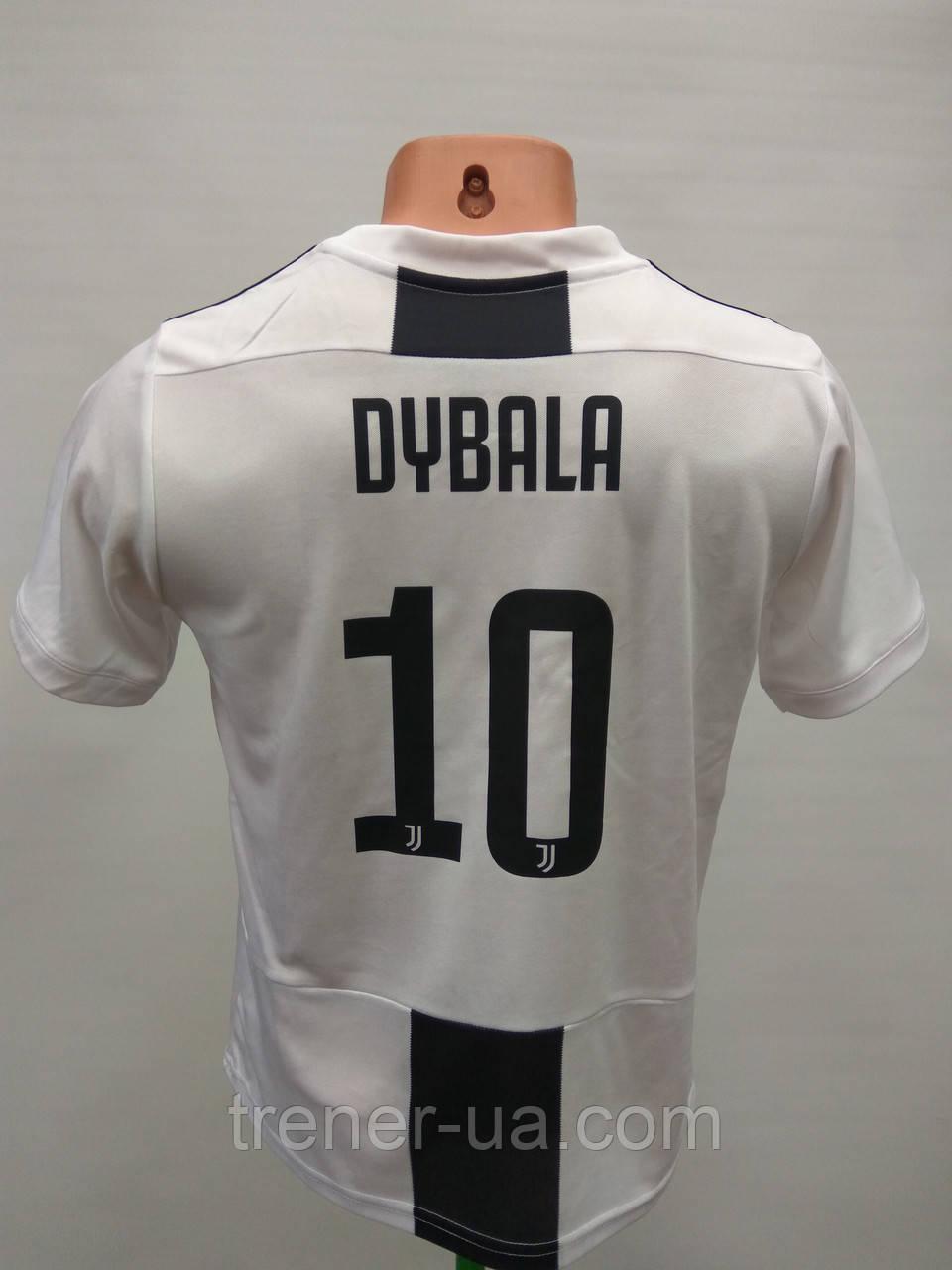 Футбольна форма дитяча в стилі Adidas Juventus Dybala чорно-біла сезон 2018-19