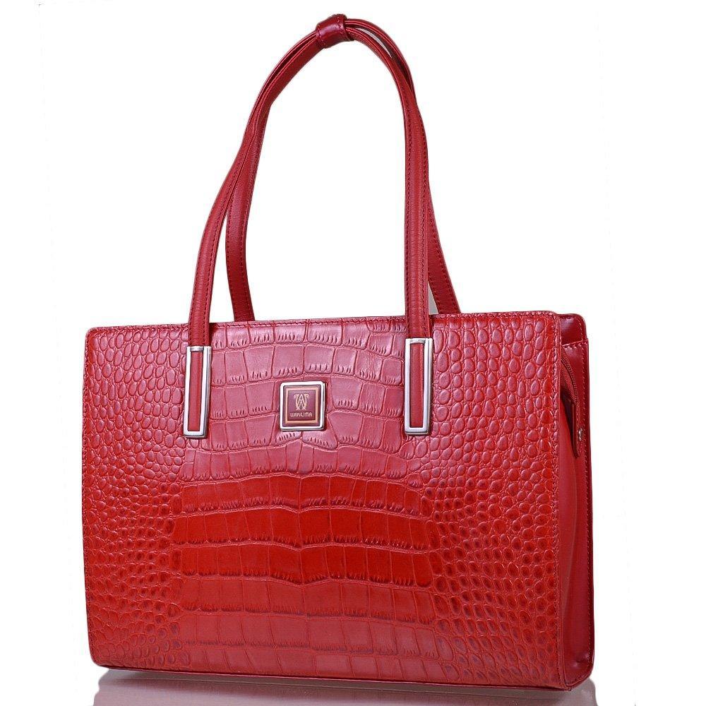 f962e42468ce Женская кожаная сумка WANLIMA Красная (W120294800100-red) - SENATOR в Львове