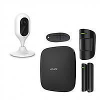 Комплект сигнализация Ajax StarterKit черный + IP камера Dahua DH-IPC-C22P