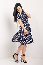 Модное женское платье рубашечного кроя 44-62 р-ры