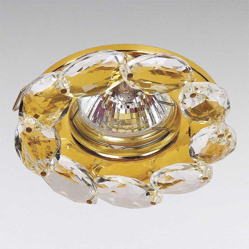 Точечный хрустальный светильник, золото LS-13178 GD/CL