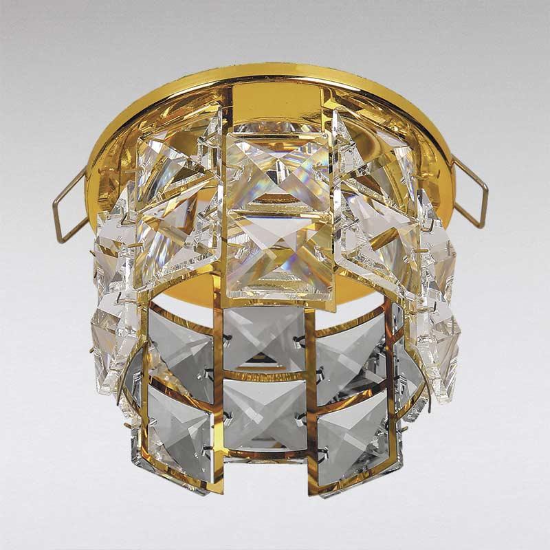 Точечный хрустальный светильник, золото LS-13177 GD/CL