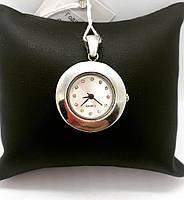 Годинник - підвіска кварцові зі срібла 925 Beauty Bar гладка фактура
