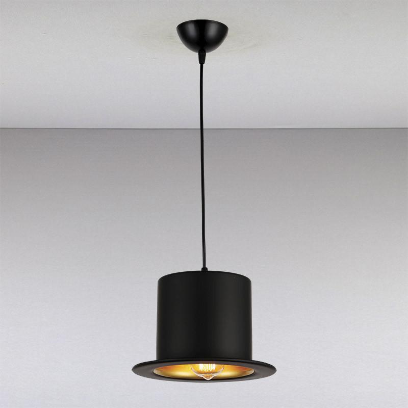 Люстра LS-13228-1 BK GD  черная