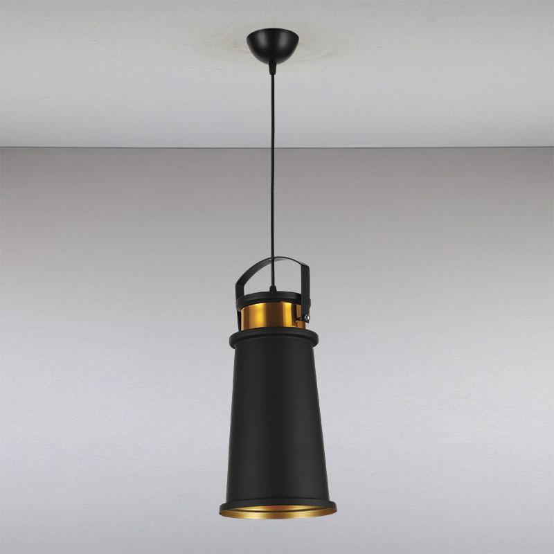 Люстра LS-13236B-1 BK GD  черная