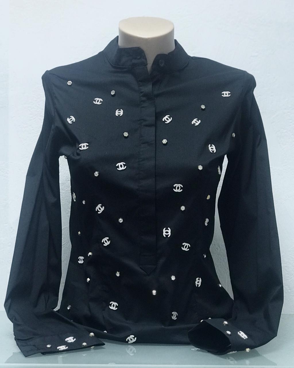 Рубашка блуза женская Бренд Lux копия черная