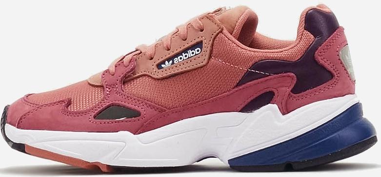 """Женские кроссовки Adidas Falcon W """"Raw Pink/Light Blue""""  (в стиле Адидас )"""