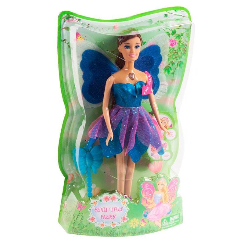 Кукла «Фея с крылышками» (синяя) JL229-2