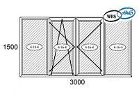 Балконная рама 3000*1500 WHS