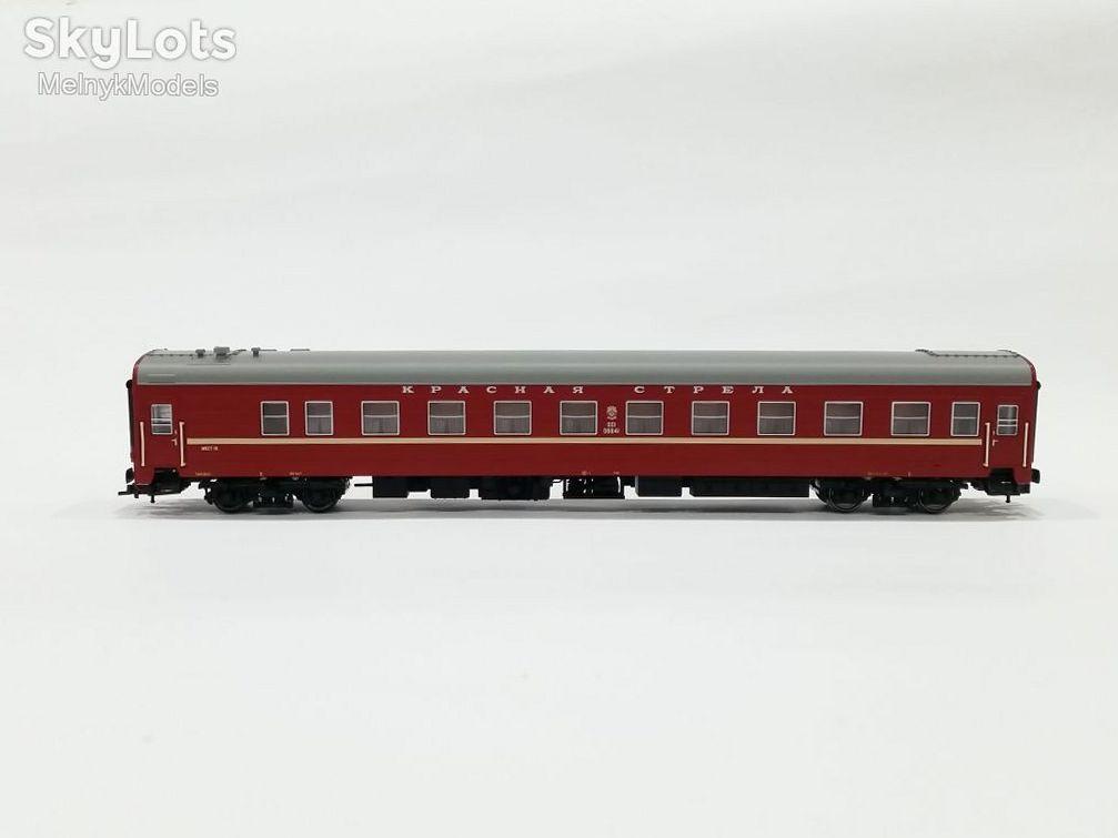 ЕВРОТРЕЙН / КРАСНАЯ СТРЕЛА комплект из 2х вагонов пассажирских, купейных / 1:87
