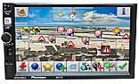 Автомагнітола Pioneer 8702 2DIN, GPS, Android 9, IpTV, WIFI, FM, BT+ пульт КОРЕЯ!, фото 5