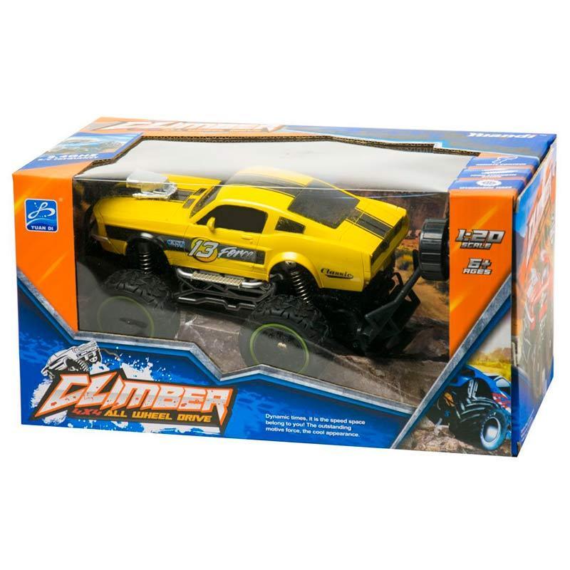 Джип на радиоуправлении 1016 в коробке (желтый)