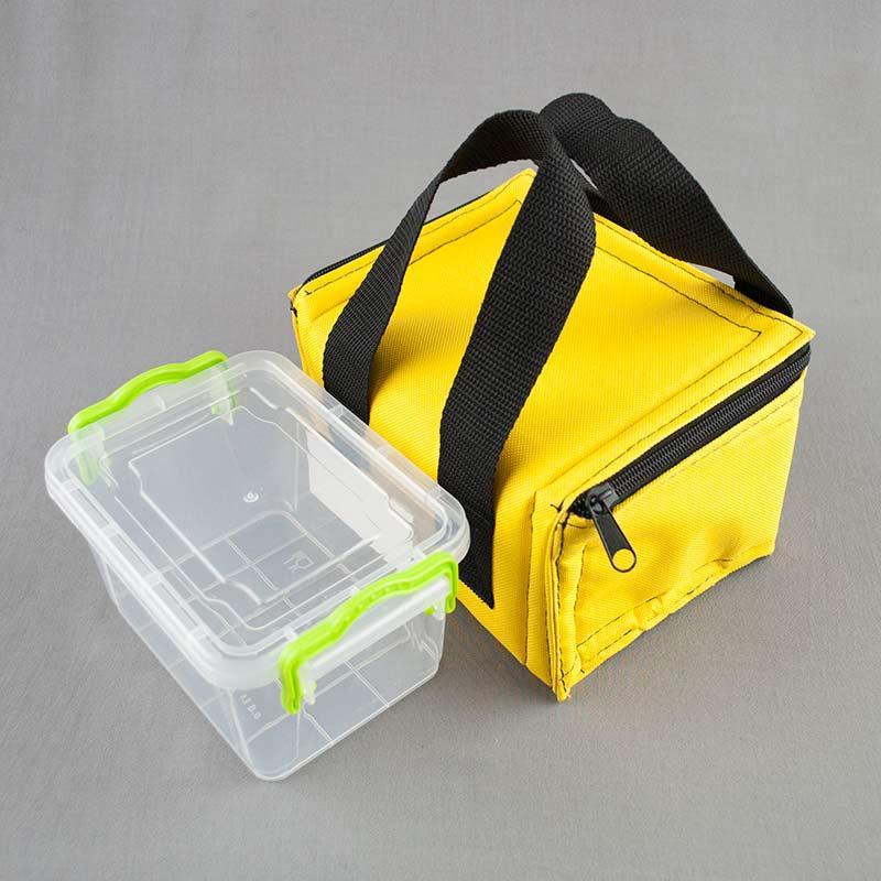 Термосумка желтая + контейнер  для еды 0,8л