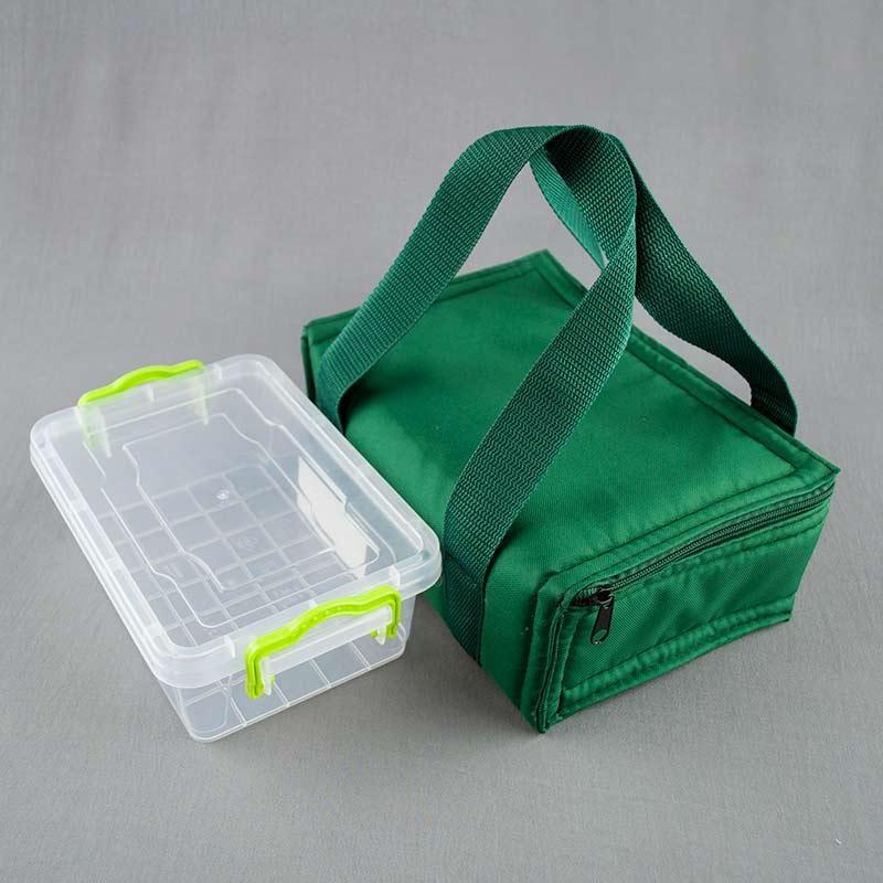 Термосумка зеленая+ контейнер  для еды 1,2л