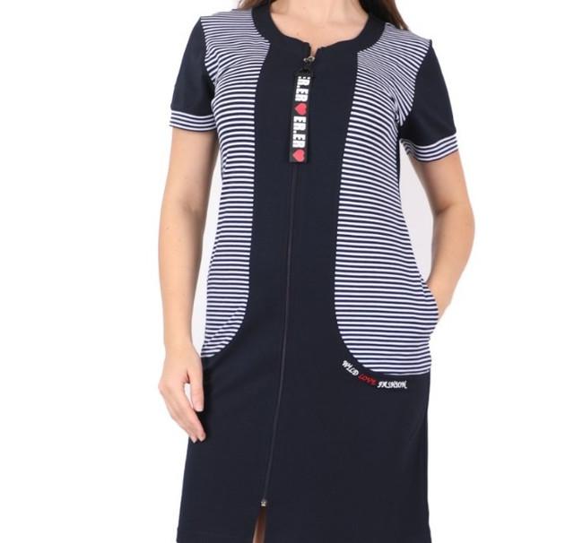 Женский летний халат на молнии 2xl-3xl-4xl купить в Украине