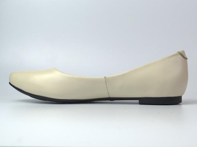 Балетки бежевые кожаные женская обувь Scara V Beige Leather by Rosso Avangard летние