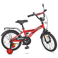 Велосипед детский Profi T1631 Racer, 16 дюймов, красный, звонок, доп.колеса