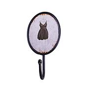 Вешалка-крючок «Черное платье», 19 см, метал