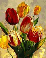 Картины по номерам 40×50 см. Тюльпаны Художник Леон Рулетт