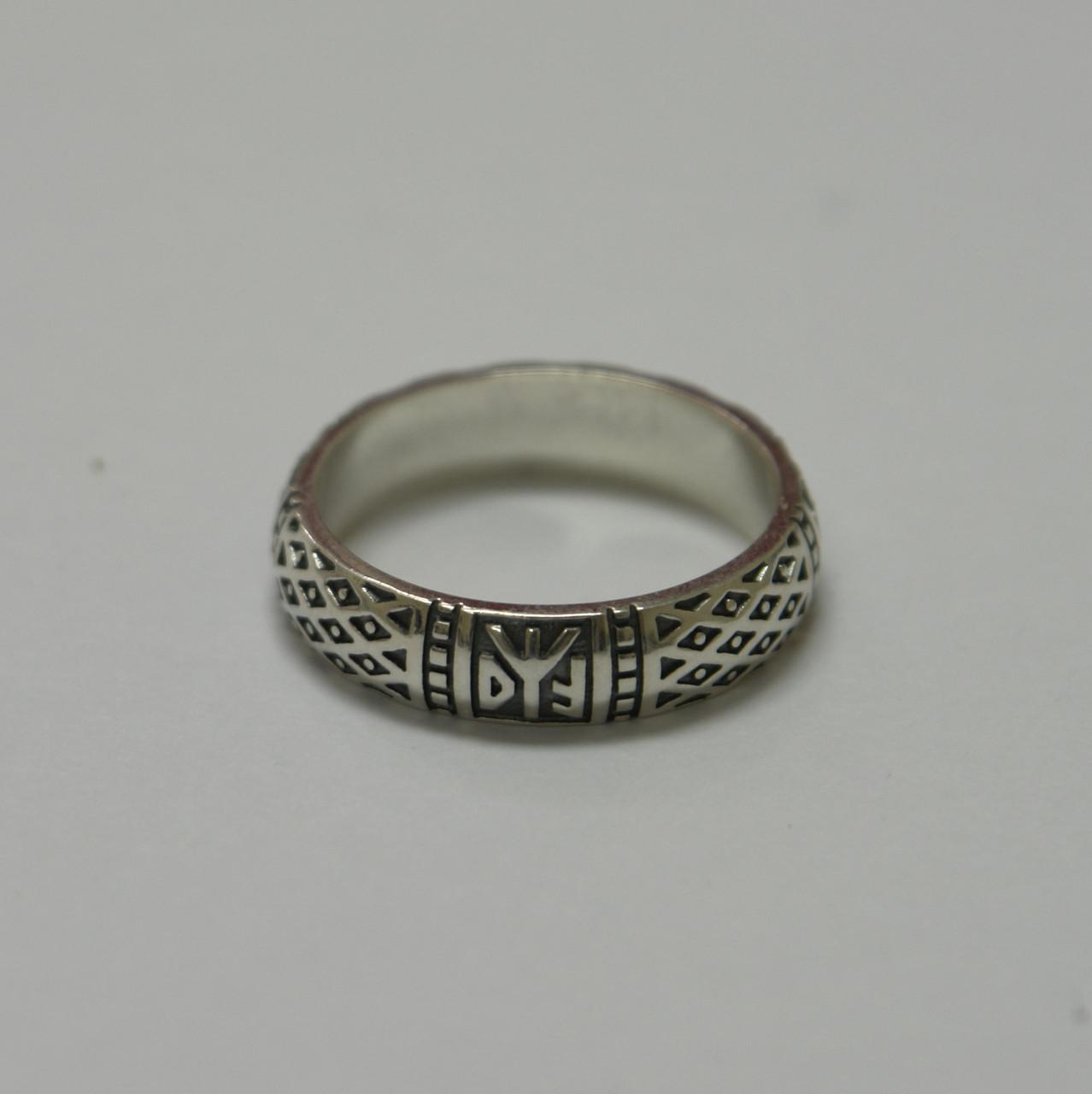 """Серебряное кольцо """"Свадебник-Боговник""""  из серебра 925 пробы"""