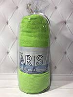 Простынь на резинке, махровая 210*230, цвет зелёный, Турция