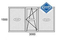 Балконная рама 3000*1500 Veka