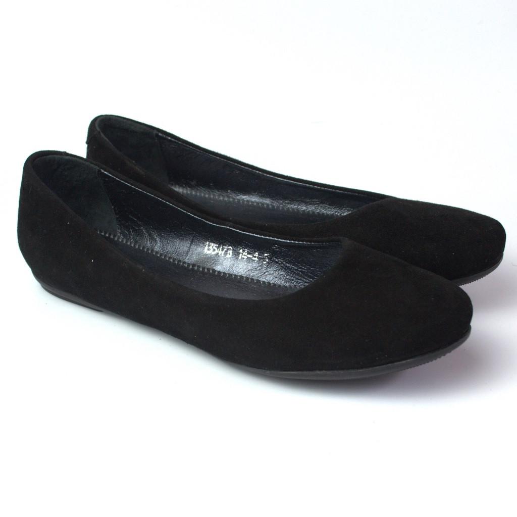Балетки замшевые черные женская обувь Scara V Black Vel by Rosso Avangard