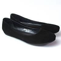 Балетки замшевые черные женская обувь Scara V Black Vel by Rosso Avangard , фото 1