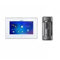 Комплект ip видеодомофона Dahua DH-VTH5241DW и ip вызывной панели DHI-VTO2101E-P
