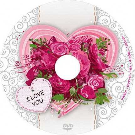 Videx DVD-R 16x 4.7 Gb I LOVE YOU bulk50, фото 2
