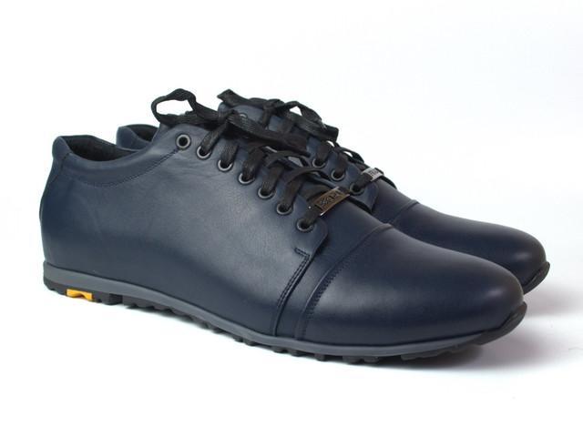 Кроссовки кожаные синие сникерсы мужская обувь Rosso Avangard PRAVDA Blu Lether