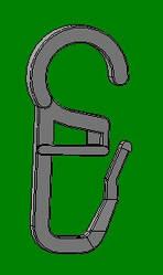 Крючок для трубчатых карнизов