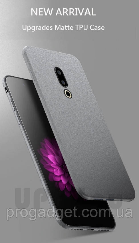 Защитный чехол - бампер для Meizu 16X (UPaitou) grey серого цвета из прозрачного TPU