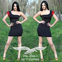 Асимметричное платье с пайетками