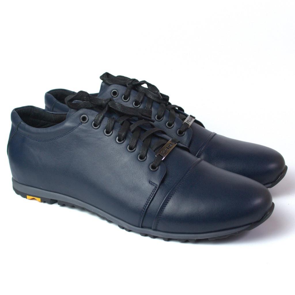 Обувь больших размеров мужская кроссовки кожаные синие сникерсы Rosso Avangard PRAVDA Blu Lether BS